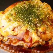 食べて納得、シンプルな定番広島風お好み焼き『トロトロ半熟卵焼き(イカ天・玉子W)』