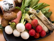 野菜も時期のもの、季節毎に良いものを厳選