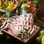 2時間飲み放題付+黄金出汁を使用したイベリコ豚のしゃぶしゃぶをメインにした全6品のご宴会コース。