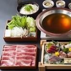 お席は全て個室でご用意させて頂いております。 お料理コース3000円(税抜)。