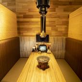 県内屈指の個室があり全140席が完全個室でテレビ付き!