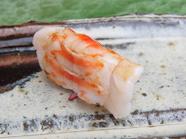 味の決め手は、ネタの開き方にあり。海老の味噌の甘みもしっかり感じられる『唐津産 車海老』