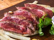 ソフトな噛み心地で美味しい『本日の馬肉ステーキ』