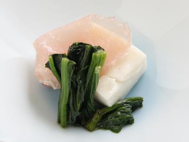 水晶冬瓜と蛤の酒蒸し 冷製餡掛け