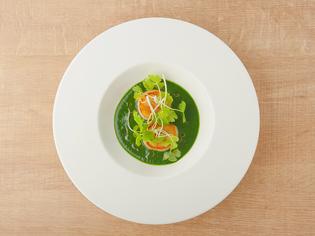 野菜の美味しさから組み立てた『ホタテ・ホウレン草』