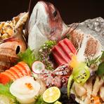 北海道からだけでなく、全国から四季折々の旬の食材を調達