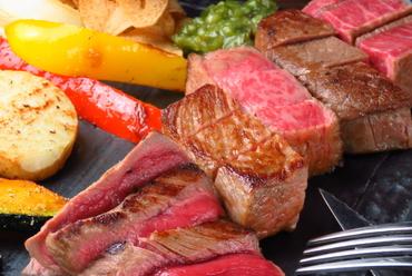 最高級和牛の贅沢な食べ比べができる『平取牛三種盛り』 ヒレ・サーロイン・内もも 各60g
