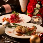 忘新年会に最適な大人のためのコース。極リゾート自慢の2種の鍋から選べる贅沢なコースです。