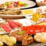 歓送迎会に最適な大人のためのコース。旬の食材を贅沢に使用した2種のメインから選べる贅沢なコースです。