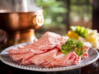 【個室確約】会食・接待・宴席におすすめ。老舗料亭で愉しむ銘柄肉のしゃぶしゃぶ鍋~麦とろ等充実の全6品