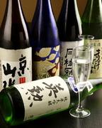 京都の日本酒を中心に、焼酎、ワインも充実。