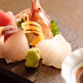 その日とれたての鮮魚のお刺身がおすすめ。素材の良さが活きる『日和コース』