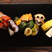 食材本来の美味しさをシンプルに味わう『焼き野菜の盛り合わせ』