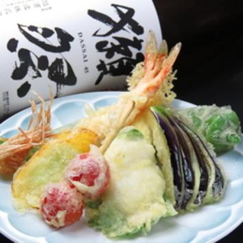 <当日OK・お酒と愉しむ>『上天ぷら盛合せセット』 1580円