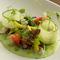 鮮やかなグリーンが映える『関門ダコと枝豆ムースと夏野菜』