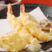 蕎麦に合う、各種天ぷら