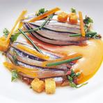 オマール海老と豆