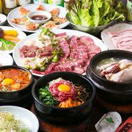 本場韓国の家庭料理をお腹いっぱい楽しめるコースは、カップルセット2名から2,780円(税別)、お鍋セット2名から2,980円(税別)などがおすすめです!