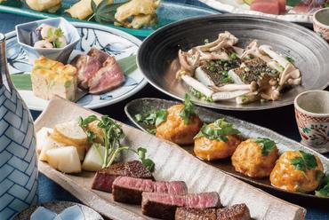 【和香るメニューの数々】造里や和酒の肴、和風鉄板焼き等、多数ご用意しております。