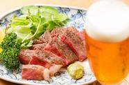 上質な肉の旨みを堪能できる『オリーブ牛サーロインステーキ』