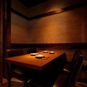 大切な方との会食やビジネスの接待に。プライベート感のある個室
