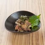 旬の魚の旨さを日本酒とともに味わう『青魚なめろう風』