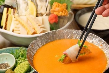 牡蠣や鯛をウニ出汁で。絶品うにしゃぶはおすすめです