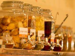 佐賀産の果物から手作りした自家製シロップ