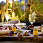 味覚や香りはもちろんデザイン性にもこだわった5感で楽しめる季節プラン。 季節の食材を使いながら目で見て楽しい色鮮やかな料理の数々と、お客様の声を参考にしメニューを考案した「ガストロノミープラン」