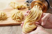 """瀬戸内で育った小麦""""せときらら""""をブレンドした小麦粉で作る自家製の生パスタ。"""
