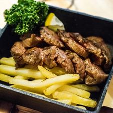 黒毛和牛ステーキ(わさび風味)