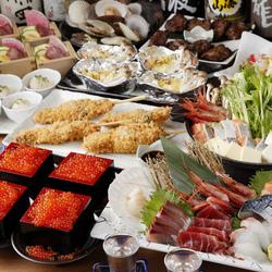 当店の自慢料理を贅沢に盛り込んだ、高級食材と3時間の飲み放題つきの最上級コースです。