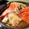 カニの旨みが春雨に染みた『活渡り蟹と春雨の土鍋煎り煮』