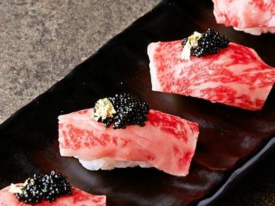 特選A4和牛の炙り肉寿司(4貫)