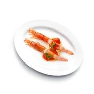 彩野菜と牡蠣のマリネをローストした温かいサラダです。