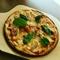 手作りベーコンのピザ