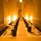 落ち着いた照明の完全個室でご案内致します。掘りごたつ◎