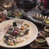 季節によって内容が変わる全10品のコース料理『季節のおまかせコース』