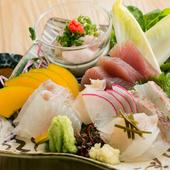 石巻直送の朝獲れ鮮魚が贅沢に味わえる『刺身盛り合わせ』(2~3名様)