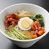 お肉の後に食べたい、さっぱりスープの『冷麺』