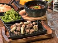 元祖 大山鶏と旨み葱の炭焼き