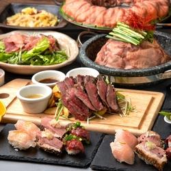 3時間飲み放題《7品》権之助自慢の肉割烹の数々!「肉握り3種盛り合わせ」や嬉しい選べるメイン付き♪