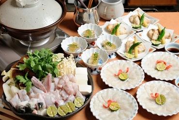 高級フグを満喫できるお得なコース料理『トラフグのコース』