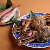 選りすぐった「カニ」と「ノドグロ」などのおいしい魚介が集う