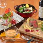 身も心も満たしてくれる、季節感あふれる料理の数々