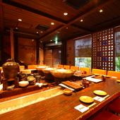 大阪の旨い料理が集う町家風酒場は、デートにもぴったり