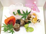 コースで楽しむ『懐石料理』 ※写真はコースの前菜です。