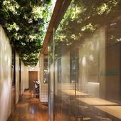 可動式のパーテーションでシーンに合わせた個室を用意