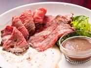 牛肉本来の脂の甘みとしっとりした食感を堪能『POLLO特製ローストビーフ』