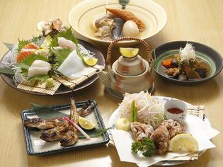 「鮮魚」「大山どり」「地酒」鳥取県の名産を取り入れたメニュー